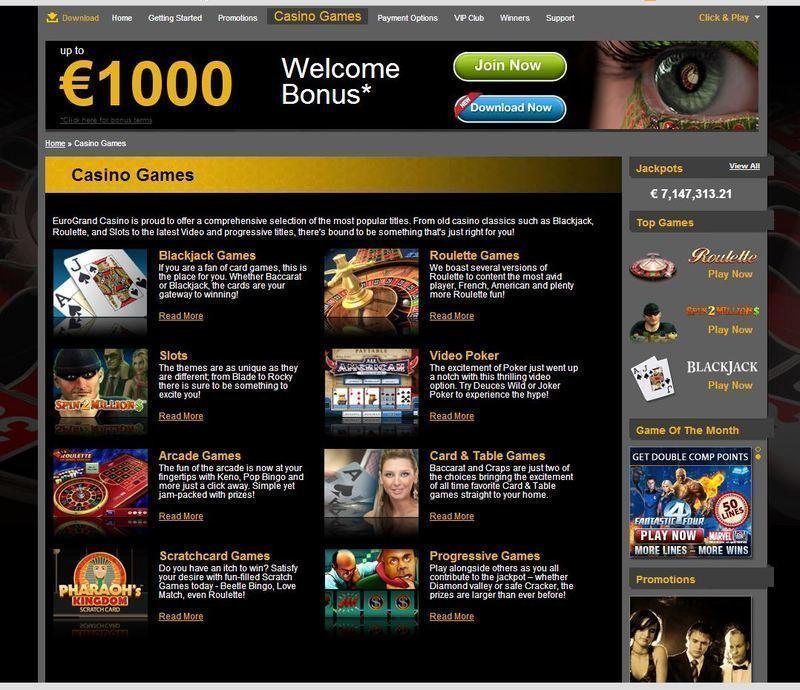 казино еврогранд играть